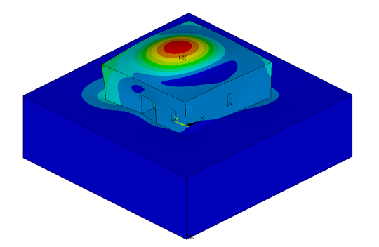 Reinforced concrete chamber - modal analysis results